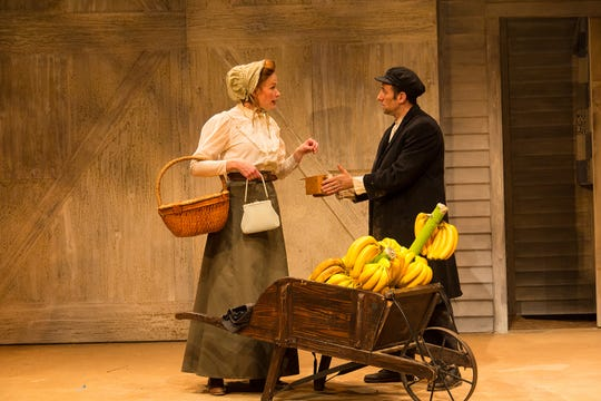 "Gretchen Hall and Benjamin Pelteson in a scene from ""The Immigrant."""