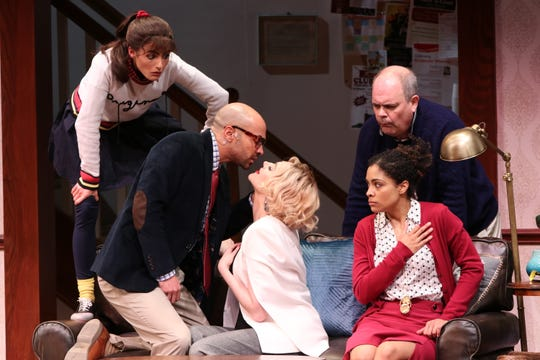 Scenes from 'The Gods of Comedy,' which is on stage through March 31