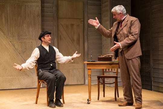 "Benjamin Pelteson, left, and R. Ward Duffy in ""The Immigrant."""