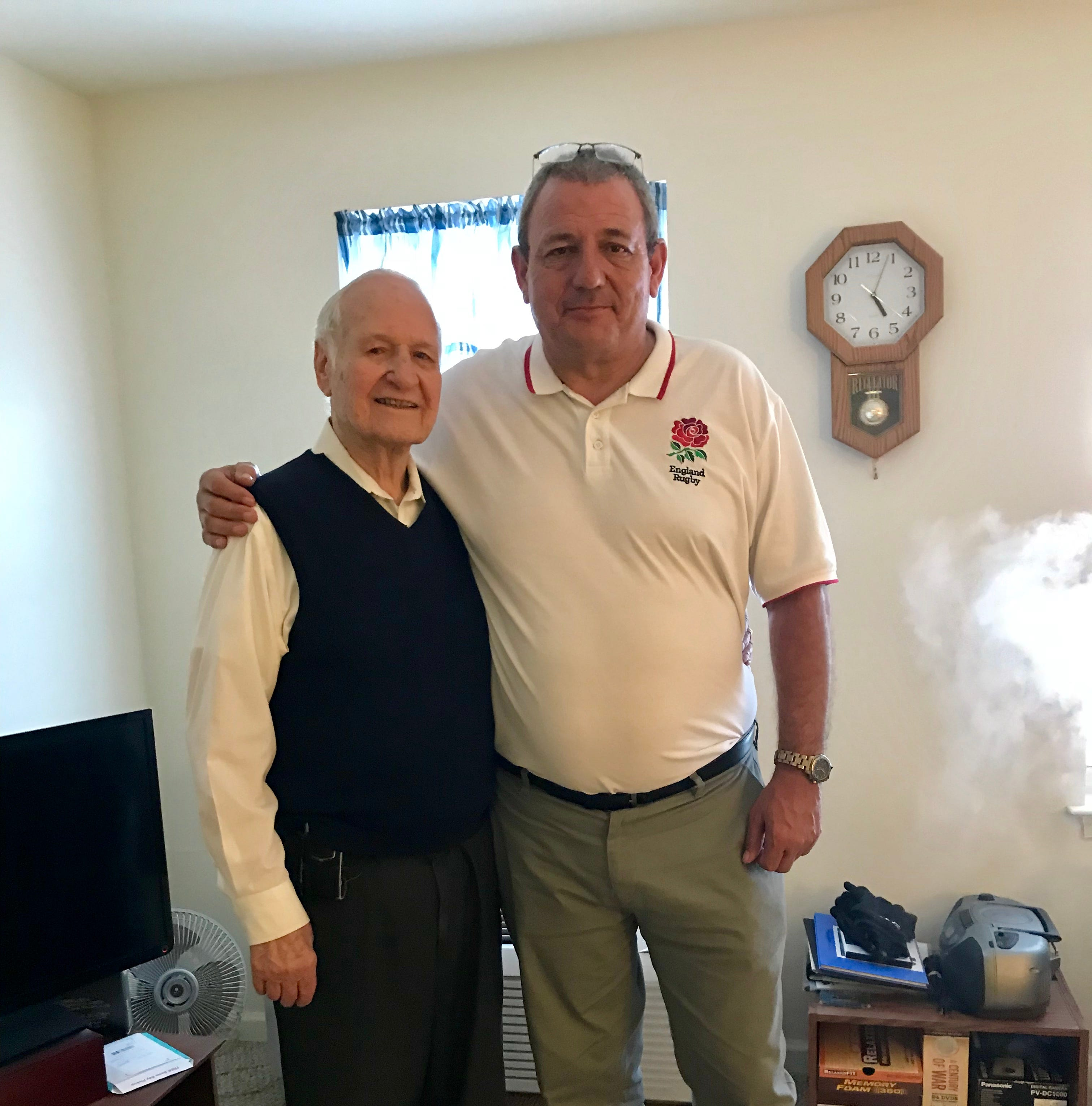 English namesake meets American WWII veteran for the first time