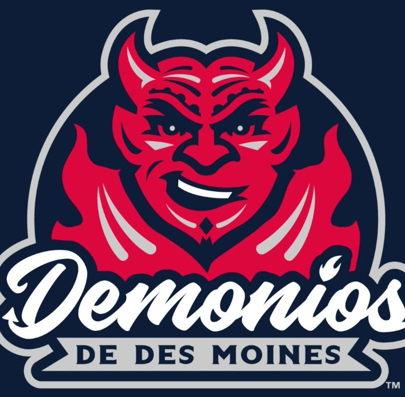 Iowa Cubs to become Demonios de Des Moines for three games this summer