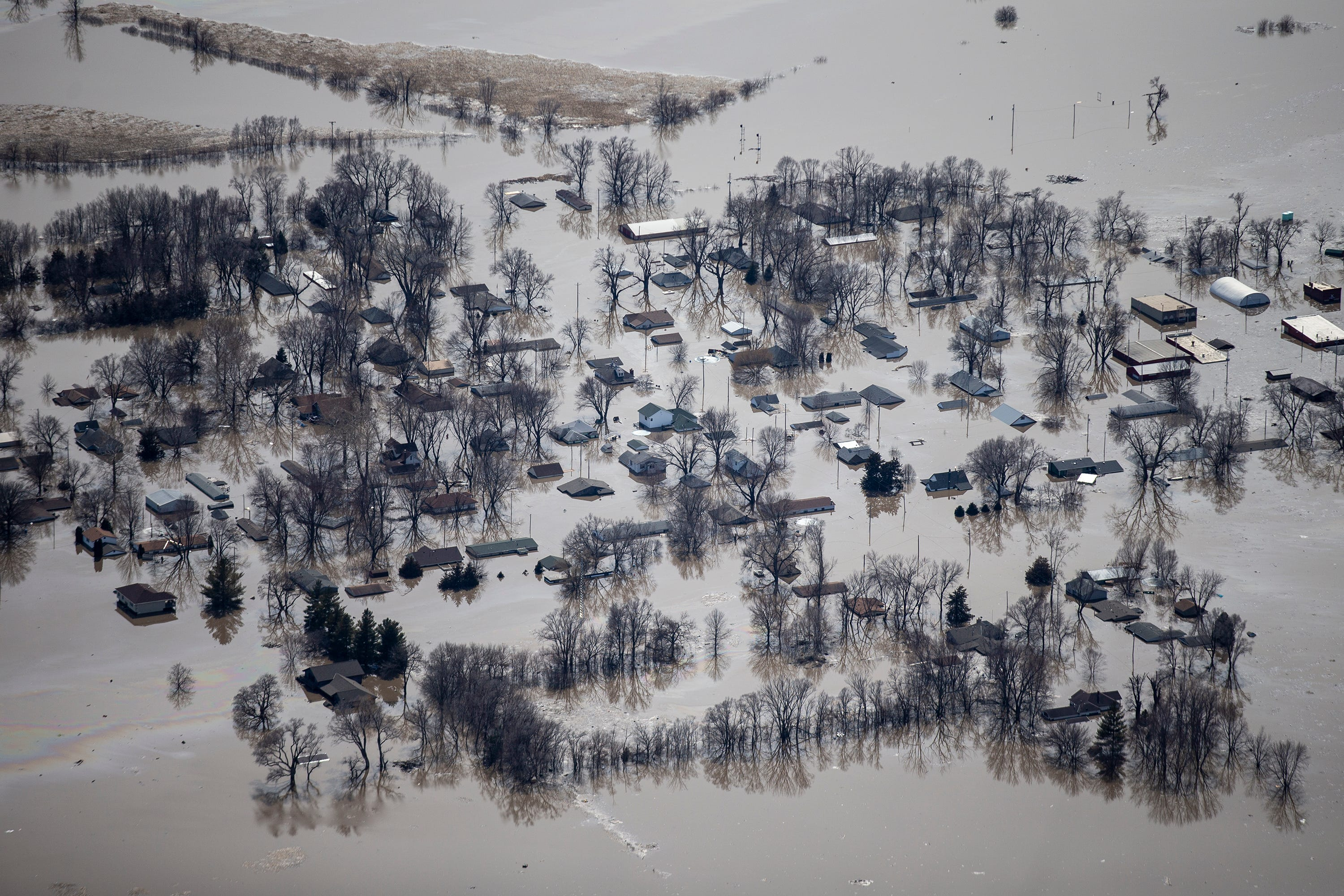 photos western iowa flooding from above