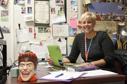 Greta Southall teaches high school English in Indianola. She is the chief negotiator for the Indianola Education Association.