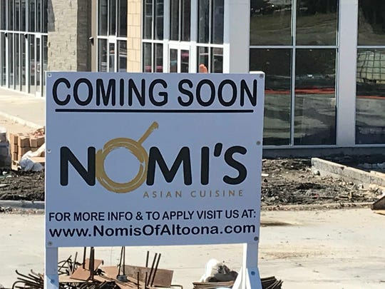 Nomi's Asian Cuisine, a family-owned restaurant serving Korean, Chinese and Japanese dishes, will open in Altoona later this spring.