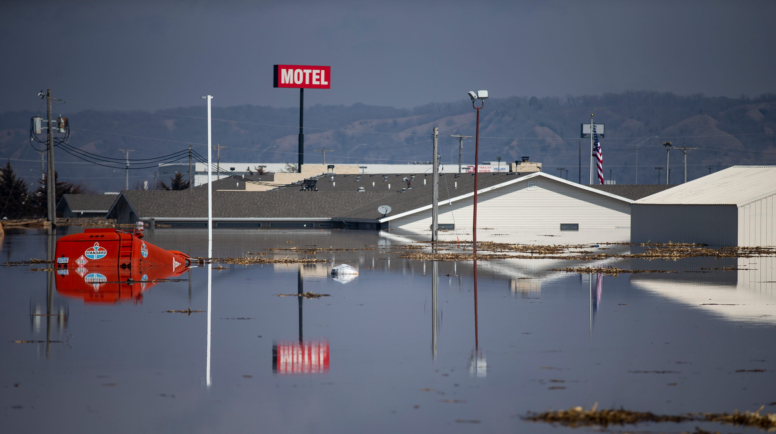 Flooding breaches four levees along the Missouri River in southwest Iowa
