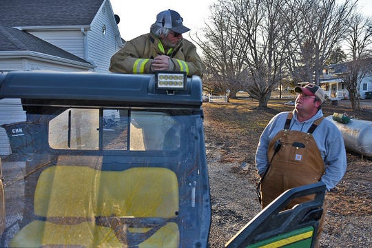 The town of Hornick in western Iowa was evacuated on Thursday, March 14, 2019, after water from the West Fork Ditch over-topped nearby levees. Gov. Kim Reynolds visited the town of about 250 people on Sunday, March 17, 2019, as residents were given 6 hours to briefly re-enter town to assess damage to their homes and collect belongings.