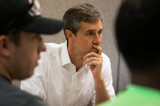 Beto O'Rourke of Texas is one of many democratic candidates making a bid for the presidency in 2020. O'Rourke visits the Carpenters Training Center in Ferndale Monday, March 18, 2019.