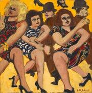 """Three Women II"" (1973) by Lester Johnson"