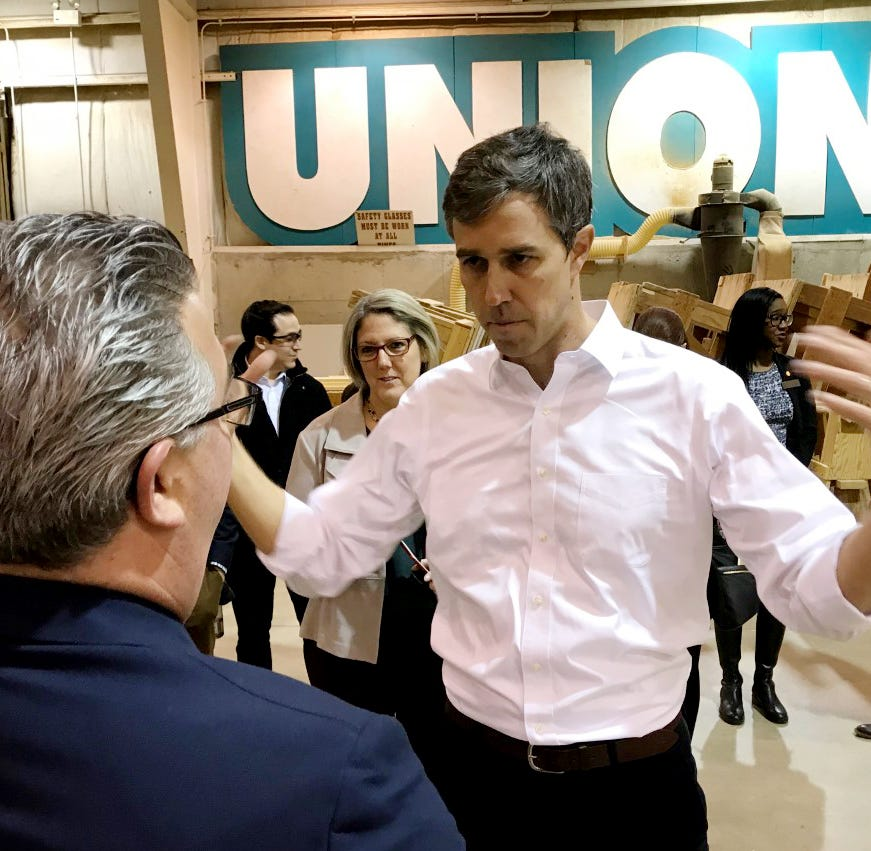 Beto O'Rourke brings presidential campaign to Michigan with a message of unity