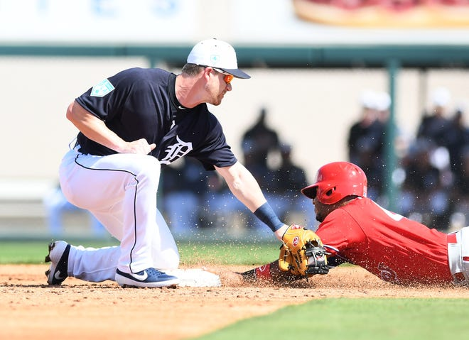 Gordon Beckham (left) is enjoying a strong spring, and could win a job with the Tigers as a backup infielder.