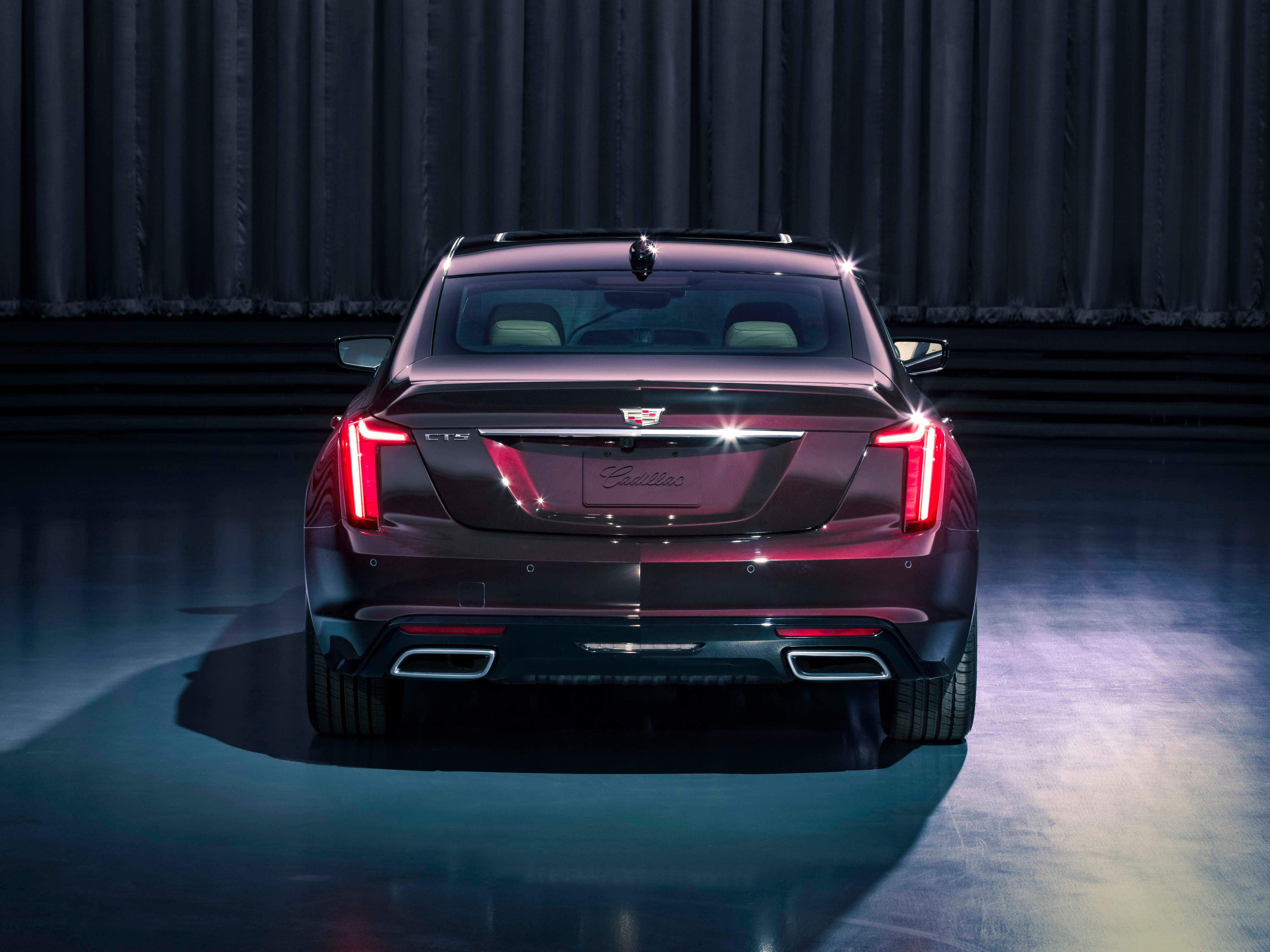 The rear of the 2020 Cadillac CT5 adopts a vertical light signature similar to the XT6 SUV that debuted at the 2019 Detroit Auto Show.