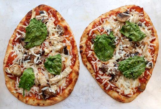 Naan pizza, Thursday, Feb. 14, 2019. (Hillary Levin/St. Louis Post-Dispatch/TNS)