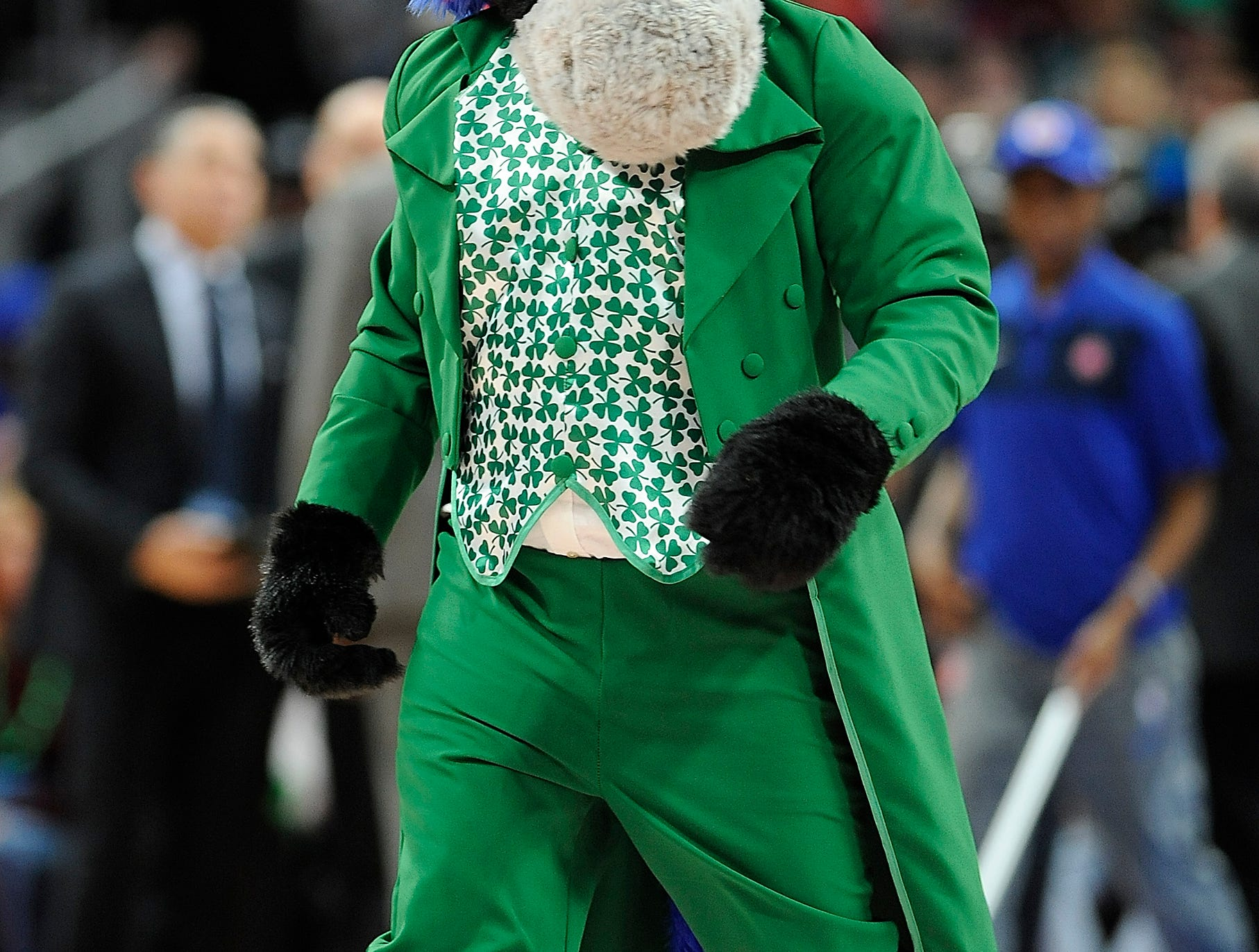Hopper wore his St. Patrick's Day outfit for the game.