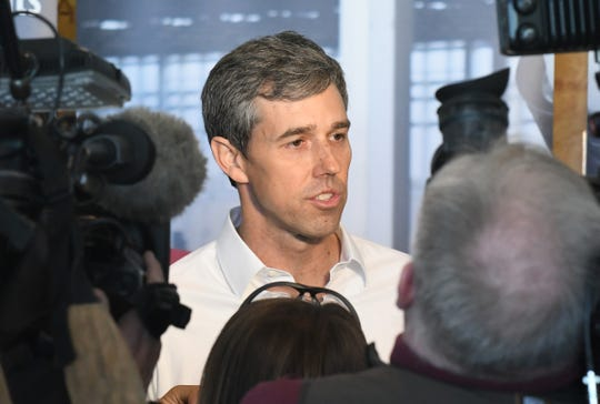 U.S. presidential candidate Beto O'Rourke visits Detroit Carpenters Training Center.