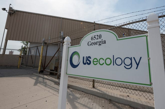 Some Detroit area elected officials and activists are opposing the renewal of a liquid hazardous waste permit for this US Ecology plant on Georgia Street in Detroit. (David Guralnick / The Detroit News)