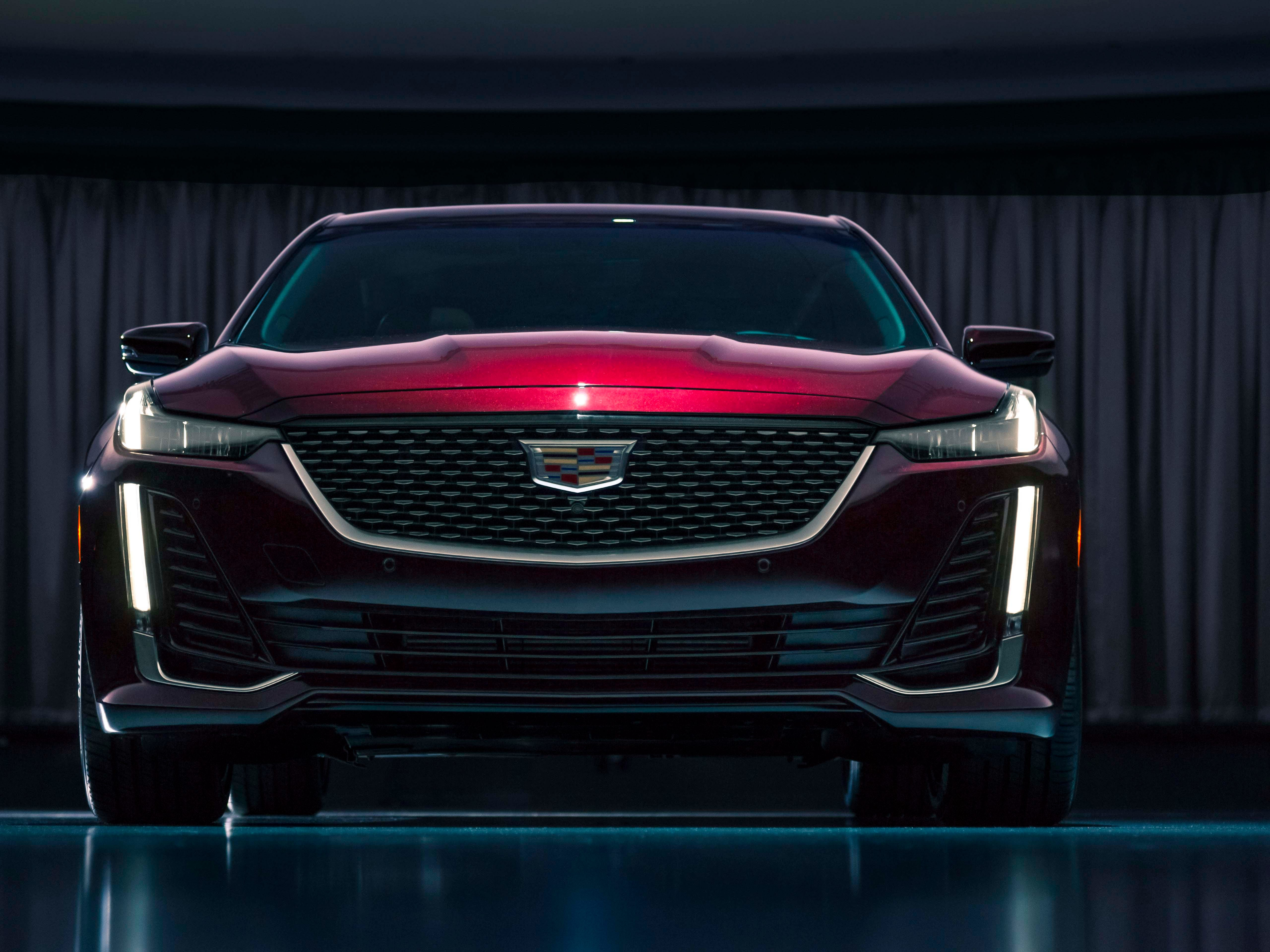 The 2020 Cadillac CT5 takes its design cues from the Escala concept - including an integration of grille and thin headlights.