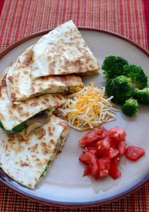 Quesadillas, Thursday, Feb. 14, 2019. (Hillary Levin/St. Louis Post-Dispatch/TNS)