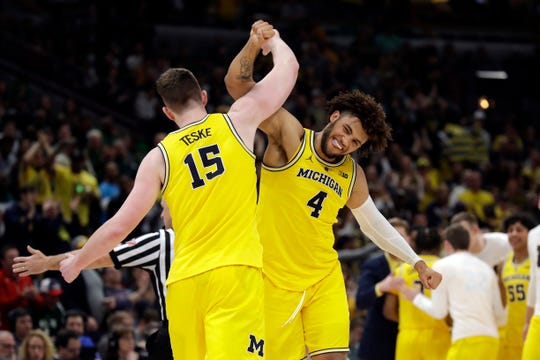 Jon Teske, Isaiah Livers and the Wolverines are in in the West Region with No. 1 seed Gonzaga.