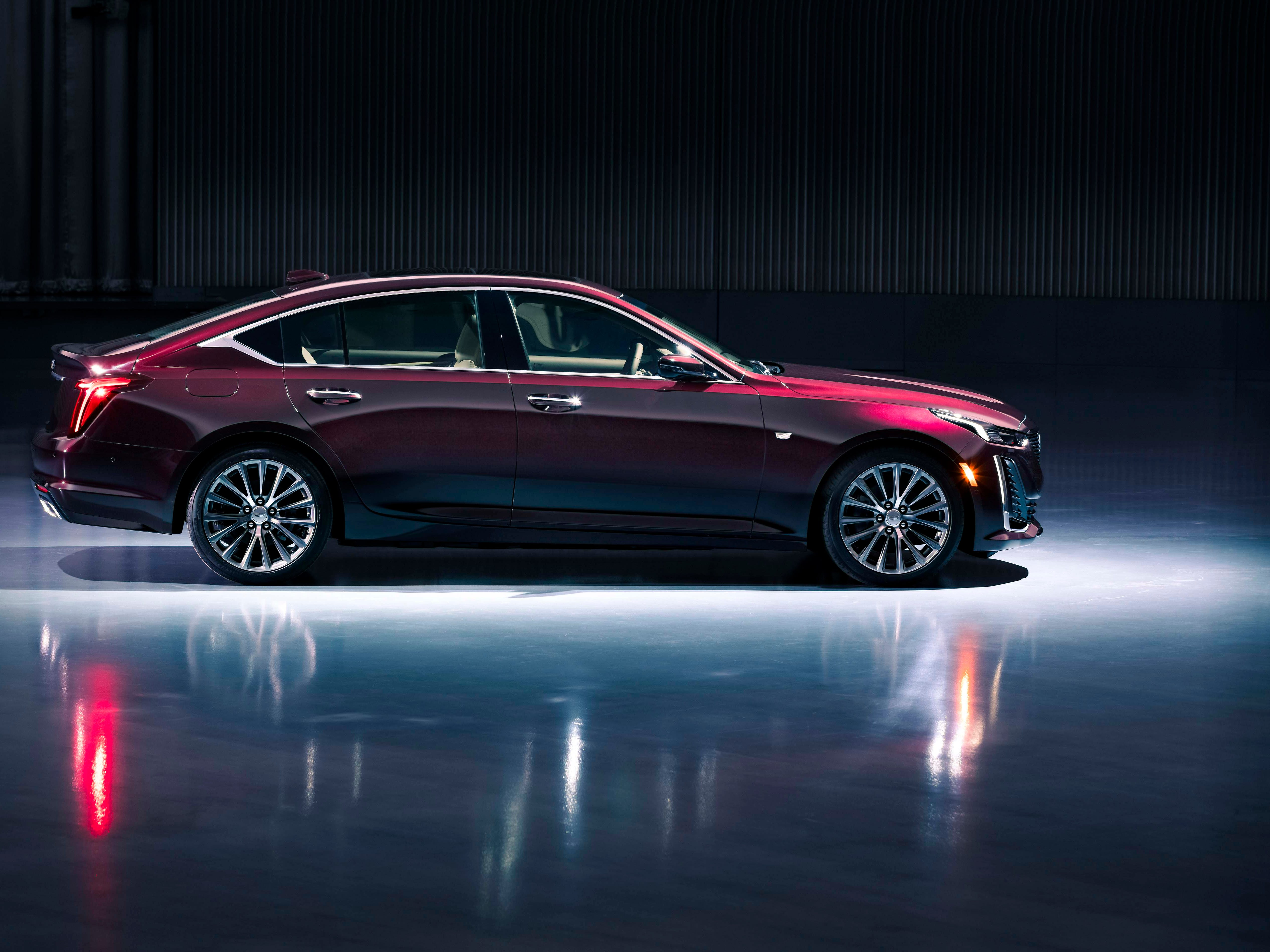 The 2020 Cadillac CT5 sits on a rear-wheel platform with AWD optional.
