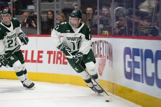 Former Michigan State standout Taro Hirose will make his NHL debut with the Red Wings on Tuesday at Madison Square Garden.