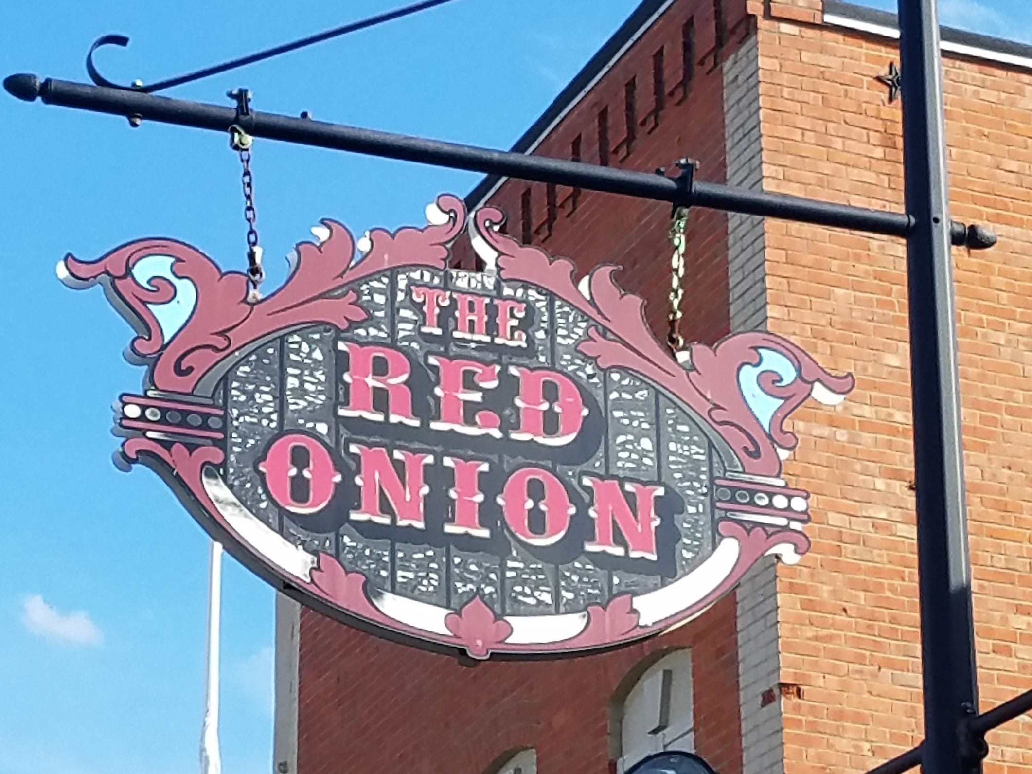 The Red Onion is a landmark in downtown Equality, Illinois.
