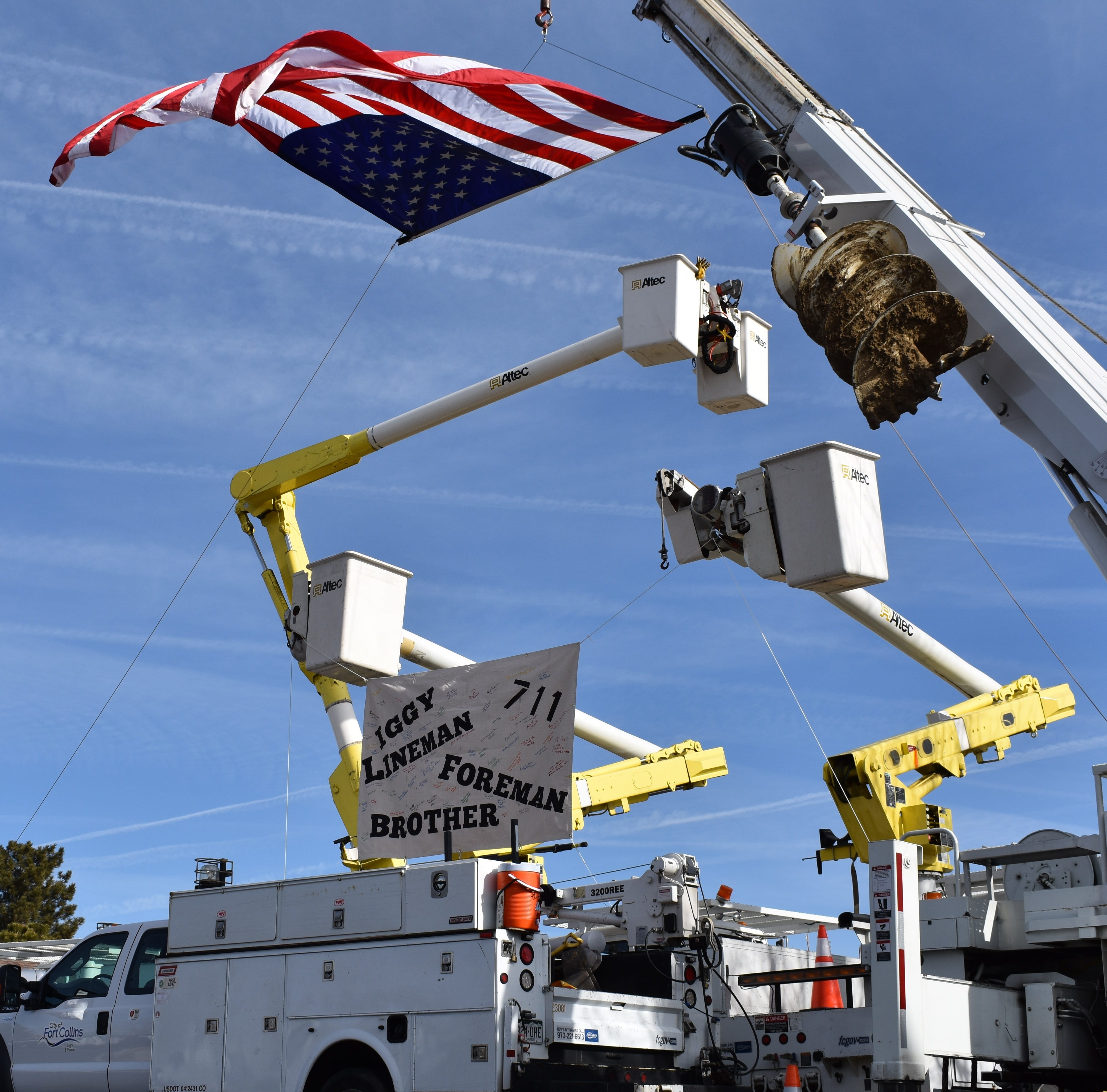 Fallen Fort Collins Utilities foreman receives send-off usually reserved for first responders
