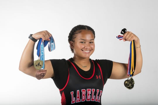 Jenna McClain, LaBelle, Weightlifting, Winter All-Area athletes 2019