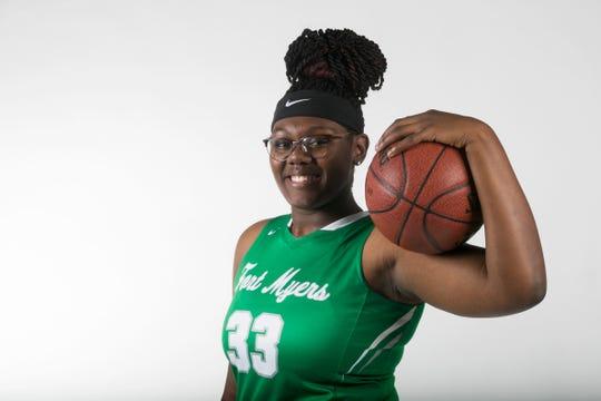 Chaniya Clark, Fort Myers, Girls Basketball Area, Winter All-Area athletes 2019