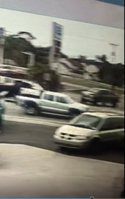 Police are looking for the owner of a silver pickup truck that may have been involved in a hit-and-run crash with a pedestrian on Palm Beach Boulevard Sunday.