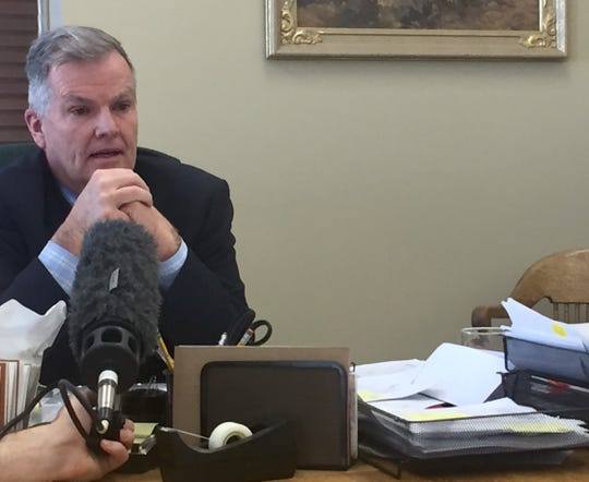 Senate President Scott Sales talks Monday about running for Secretary of State in 2020.