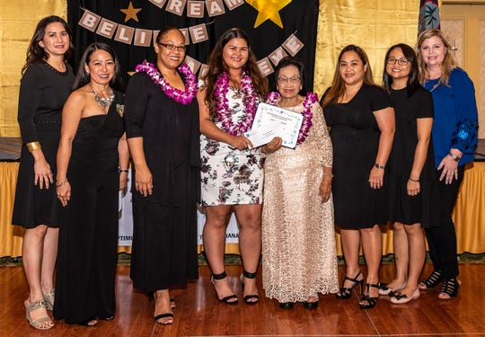 Chauntae Quichocho - The Soroptimist International of the Marianas awarded three scholarships to Guam Community College students. The scholarships are awarded primarily to encourage women to pursue an undergraduate degree.