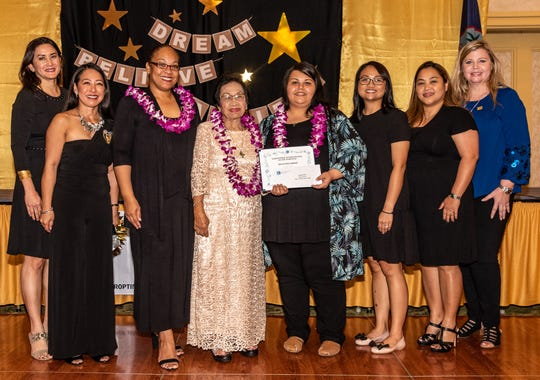 The Soroptimist International of the Marianas held its Charter Night on February 9 to encourage women to pursue an undergraduate degree.  Together with the Cristeta Villacorta Alegria Foundation the following were awarded: Jamie Freitas, Guam Community College.