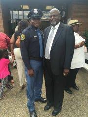 Former Hattiesburg police chief David Wynn with his son, police officer David Wynn II