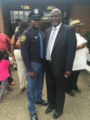 Former Hattiesburg police chief David Wynn with his son, police officer David Wynn II