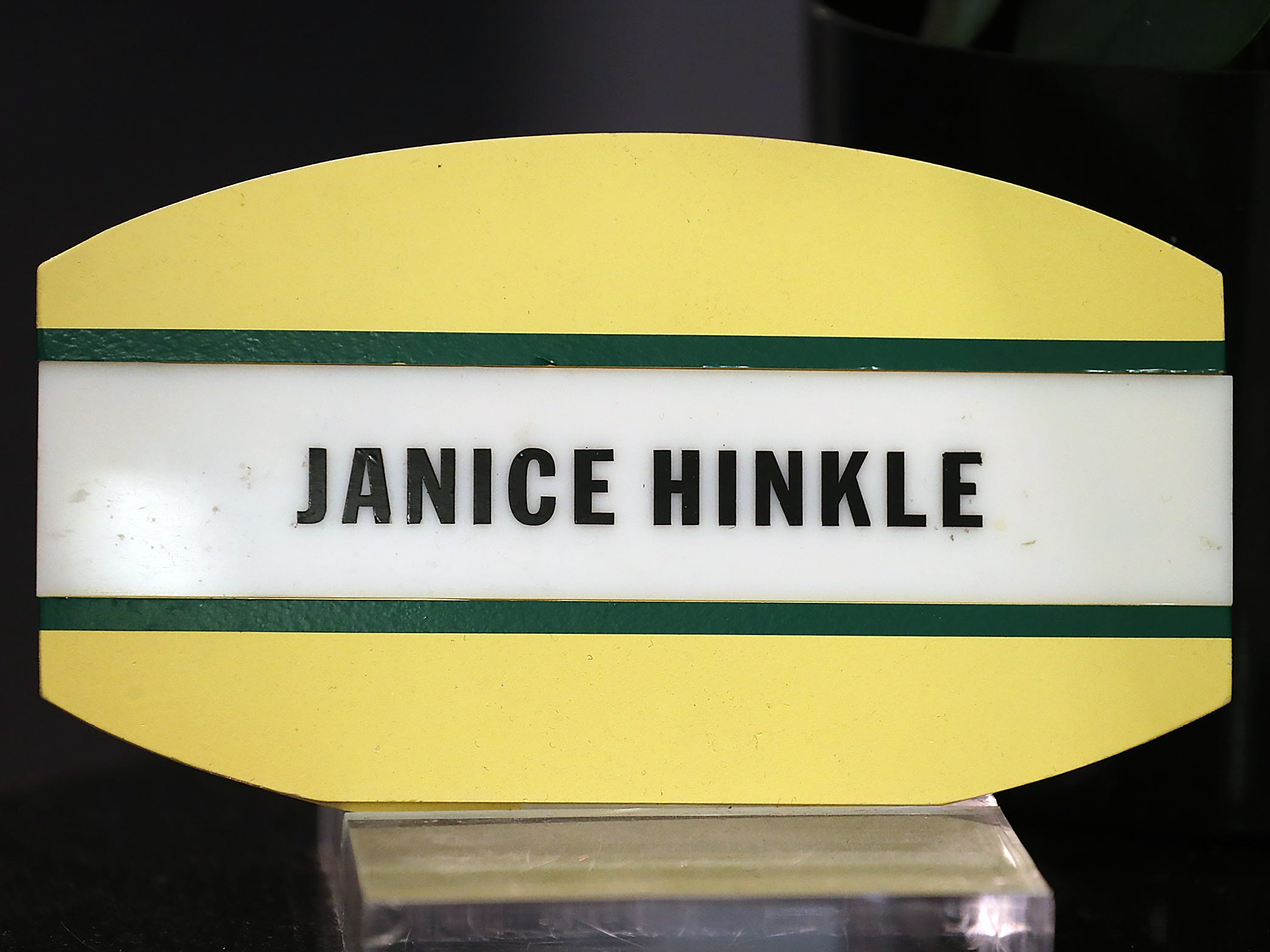 Janice Hinkle is receptionist for Pacers Sports & Entertainment, Friday, March 15, 2019.