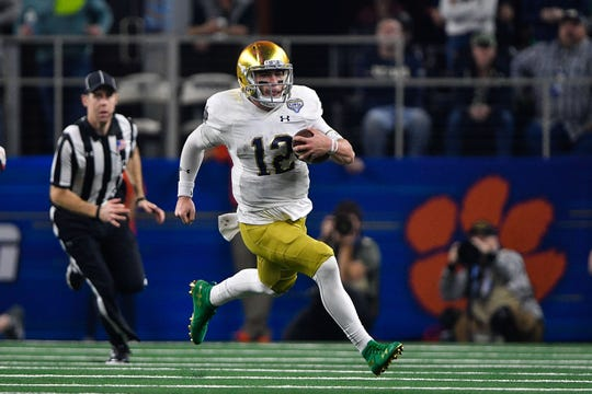 Ian Book is Notre Dame's quarterback. With Brandon Wimbush's transfer, Phil Jurkovec is next in line.