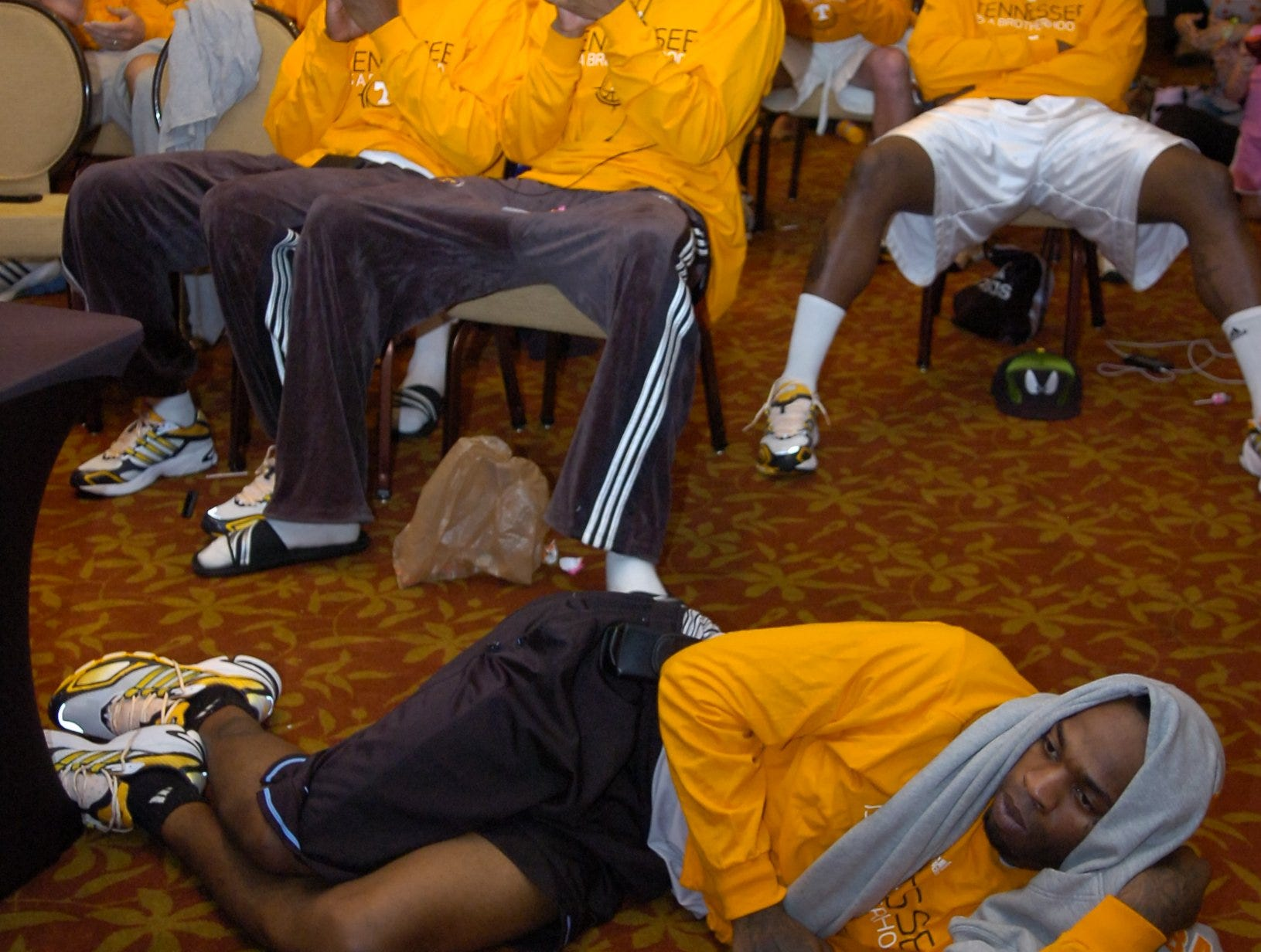 The Tennessee basketball team watches the NCAA tournament selection show on CBS and learns they ate a ninth seed and will face Oklahoma State in Dayton, OH in the first round of play on Friday.
