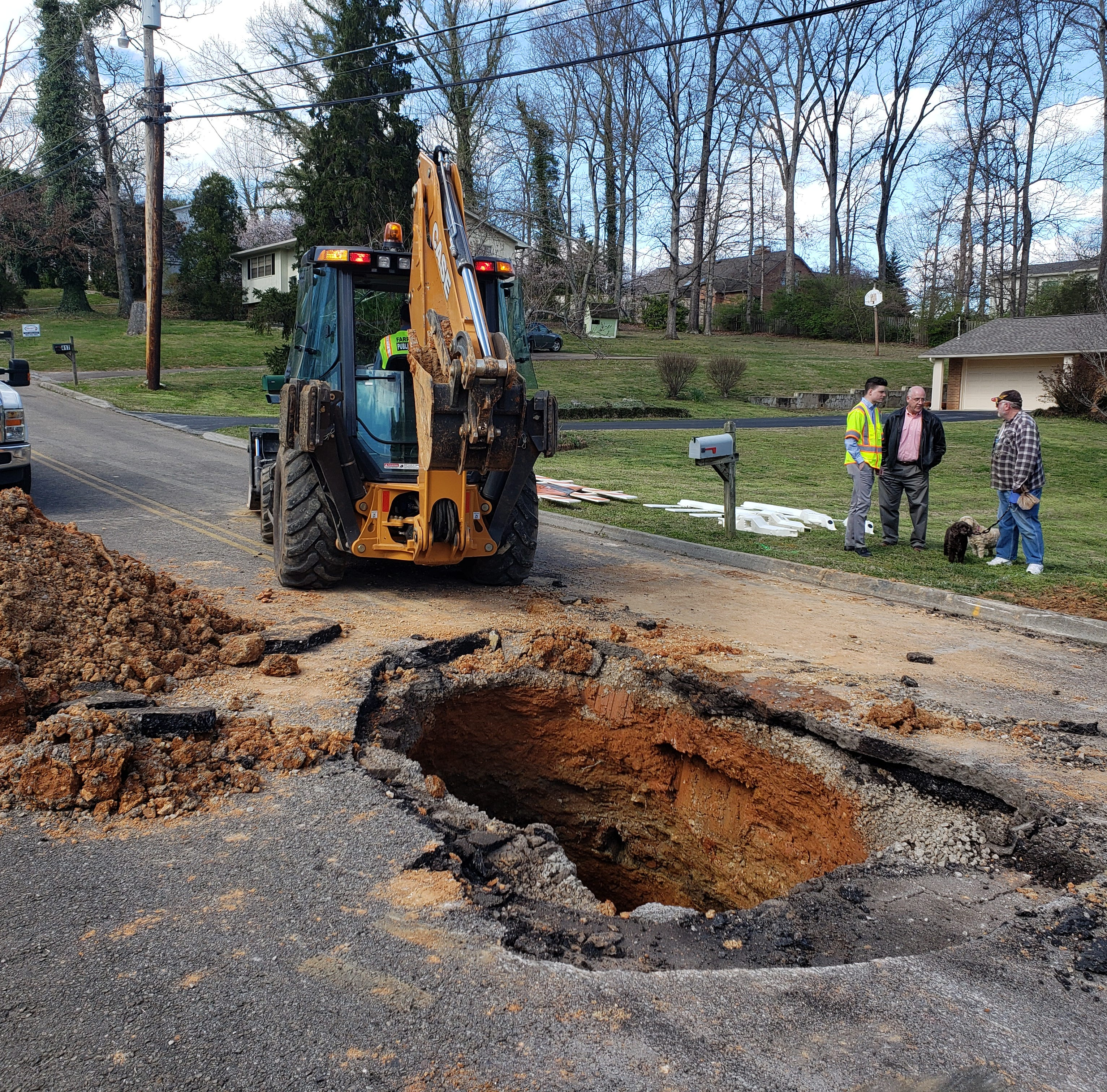 Sinkhole closes road in Farragut subdivision after recent flooding