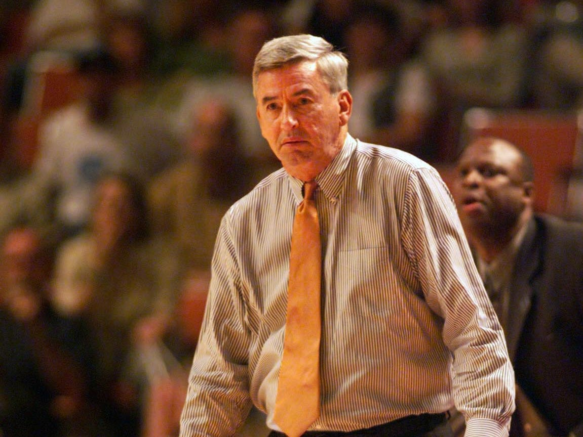 Tennessee coach Jerry Green is pictured in a game against North Carolina during the NCAA tournament South Regional on Friday, March 24, 2000, in Austin, Tex. North Carolina rallied past the Vols for a 74-69 victory.