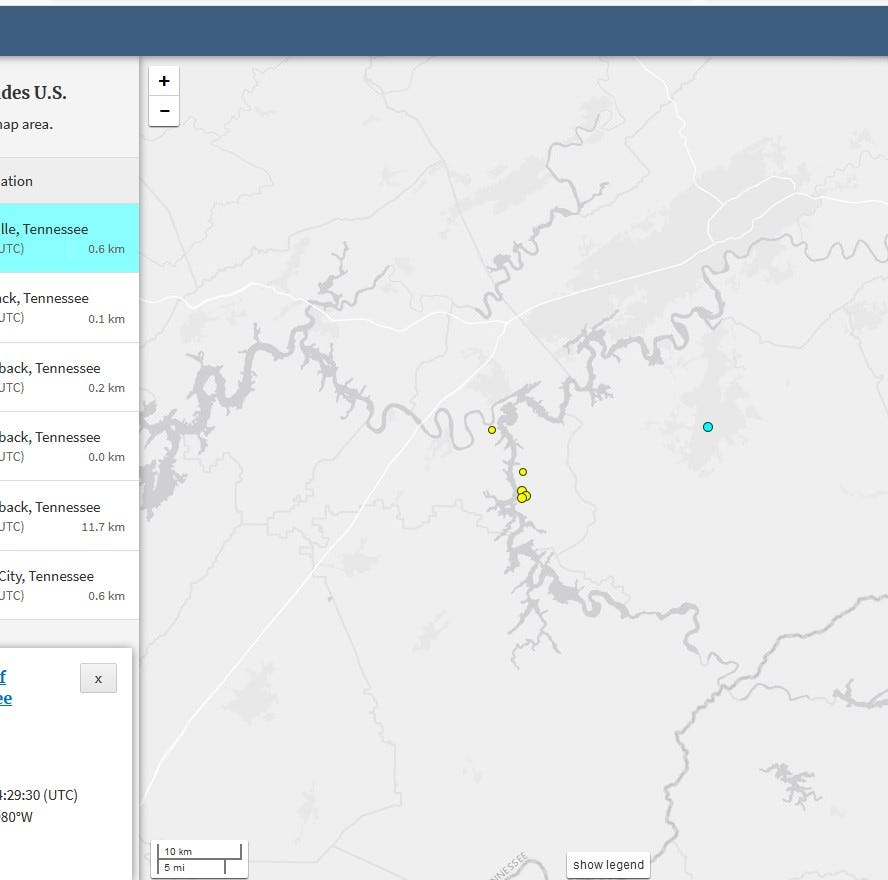 Earthquake shakes Maryville on Monday morning