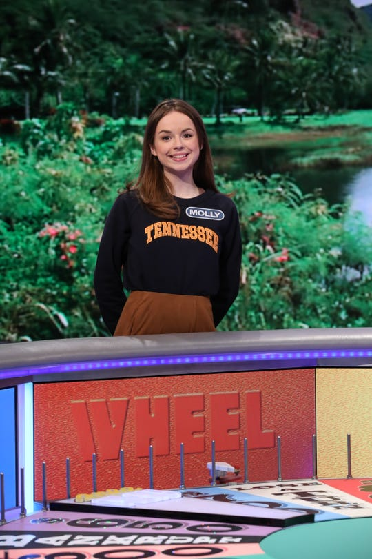 "Molly Rodabaugh competes on ""Wheel of Fortune."""