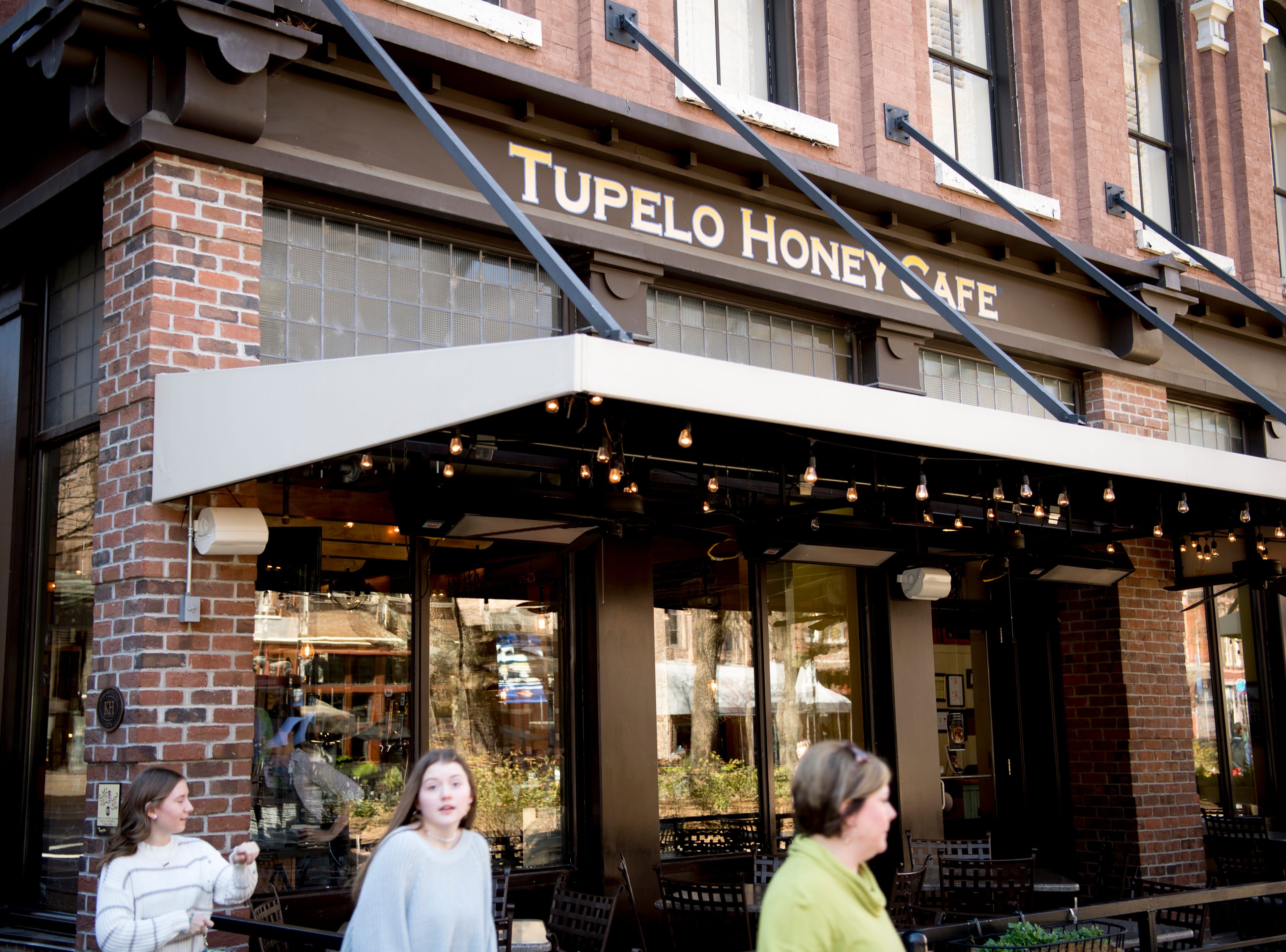 Tupelo Honey Cafe on the southwest corner of Market Square in downtown Knoxville, Tennessee on Monday, March 18, 2019.