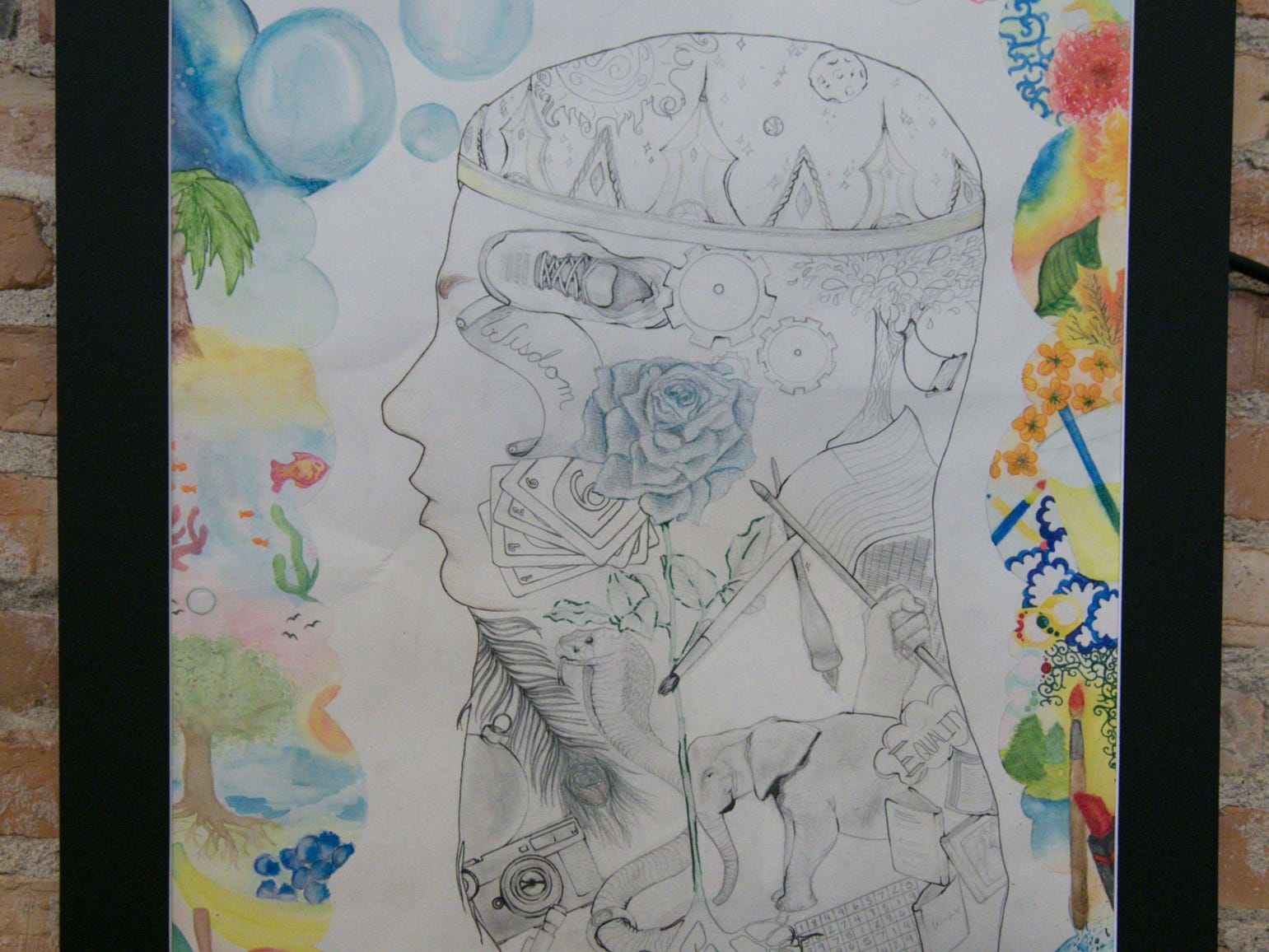 "Hartland Middle School at Ore Creek 8th grader Breanna Zaborowski produced this piece on display at the ""Got Art"" exhibit at the Howell Opera House, shown Friday, March 8, 2019."