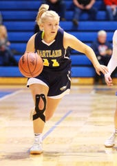 Amanda Roach is one of four freshmen who have played key roles in Hartland's run to the state basketball quarterfinals.