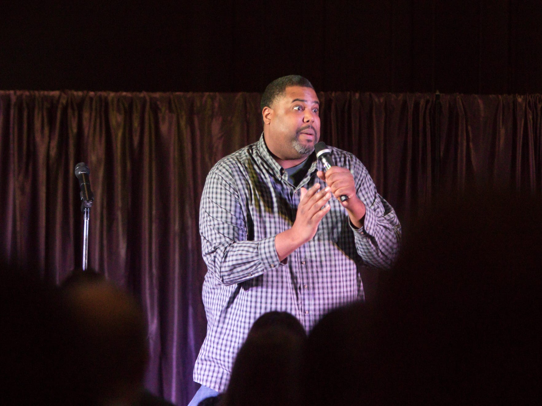 Comedian Cam Rowe was among several providing laughs at Love, INC's benefit event Thursday, March 14, 2019.