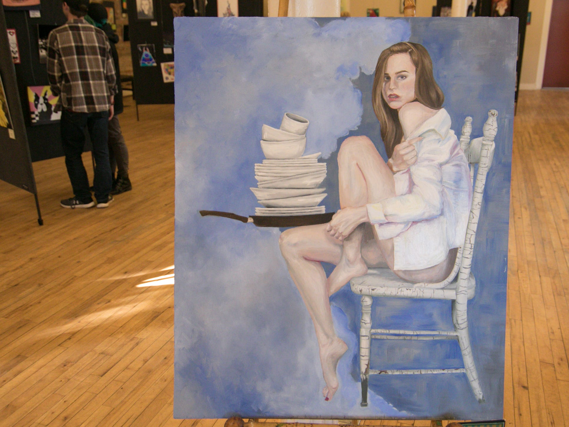 "A work by Howell High School senior Alaina Ettema is shown at the ""Got Art"" exhibit at the Howell Opera House Friday, March 8, 2019."