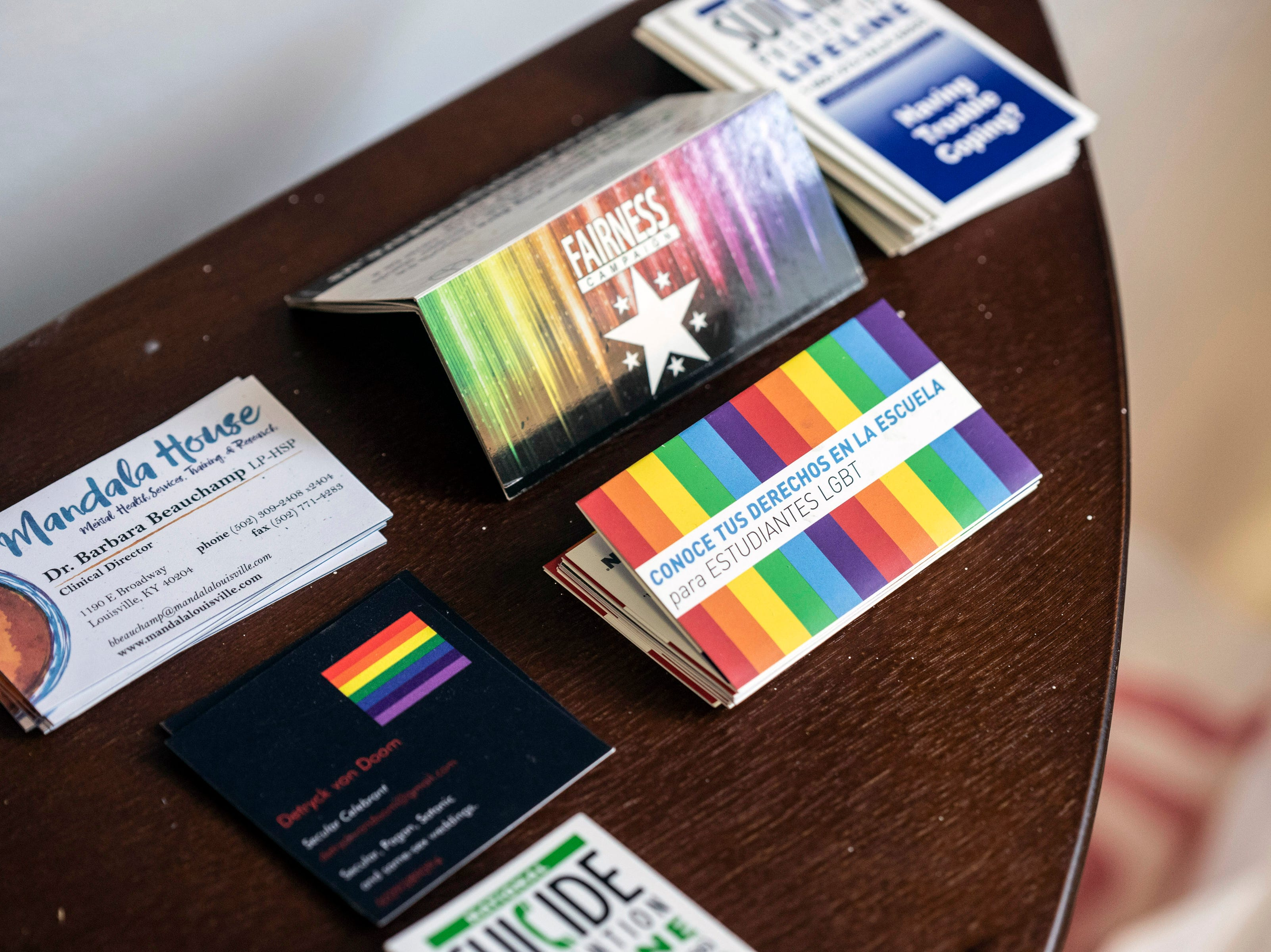 Information from a number of local pro-LGBTQIA+ organizations can be found at a new safe space at 417 East Broadway. 3/15/19
