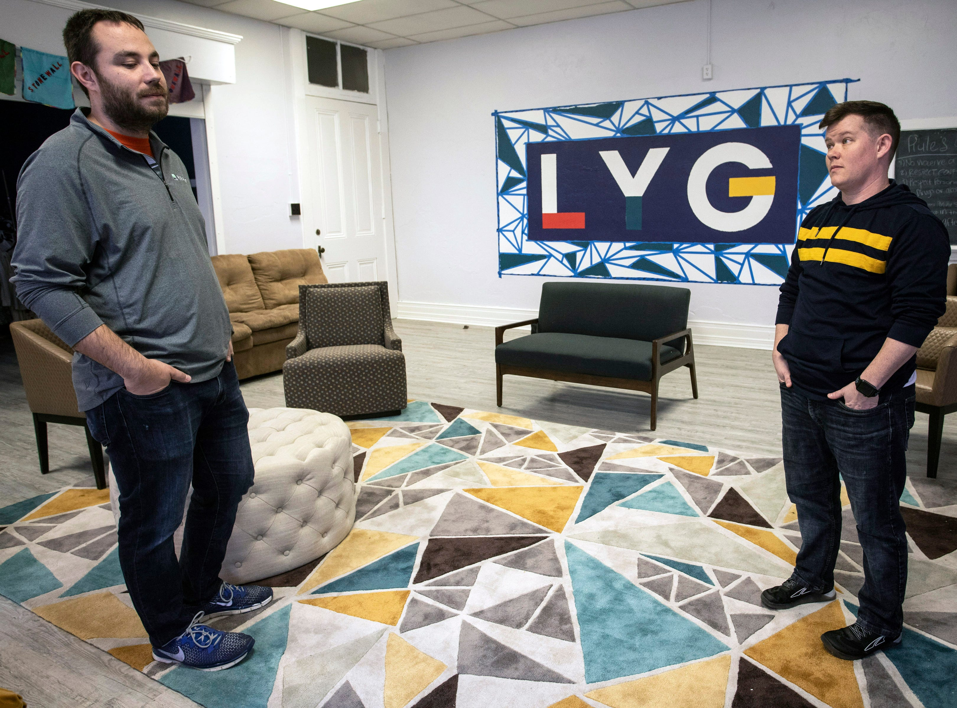 Andre Barrie of Ignite Louisville and Jasper Owens of Louisville Youth Group have joined to create a new safe space for the LGBTQIA+ community on East Broadway. 3/15/19
