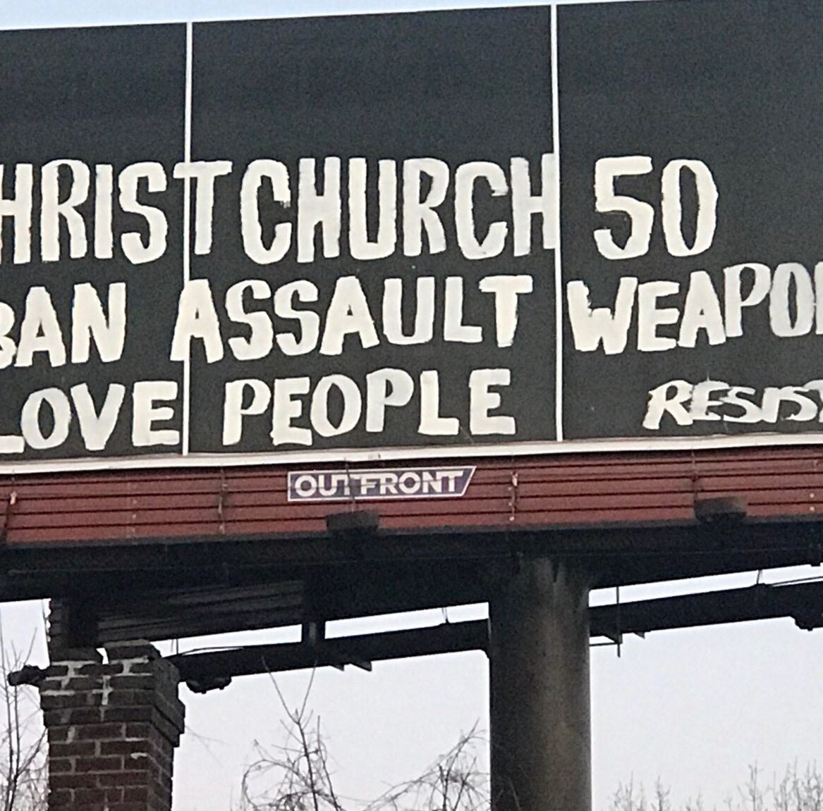 'Ban assault weapons.' Anti-Trump vandal tags Louisville billboard again