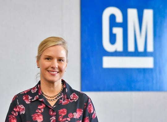 General Motors Lansing Grand River Assembly Plant Director Darci Marcum poses for a portrait, Monday, March 18, 2019, in a conference room at the plant.